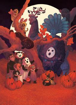 Halloween Zoo Poster