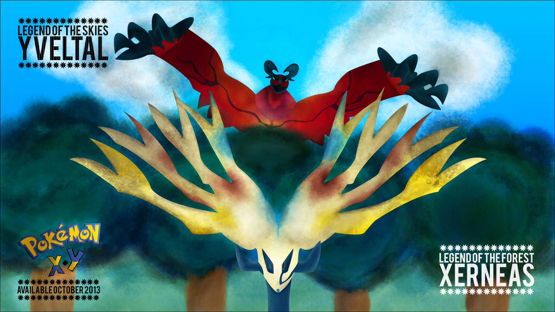 Pokemon X and Y: Xerneas and Yveltal Wallpaper by ...