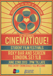 Cinematique! Film Festival Poster 2013 by RicGrayDesign