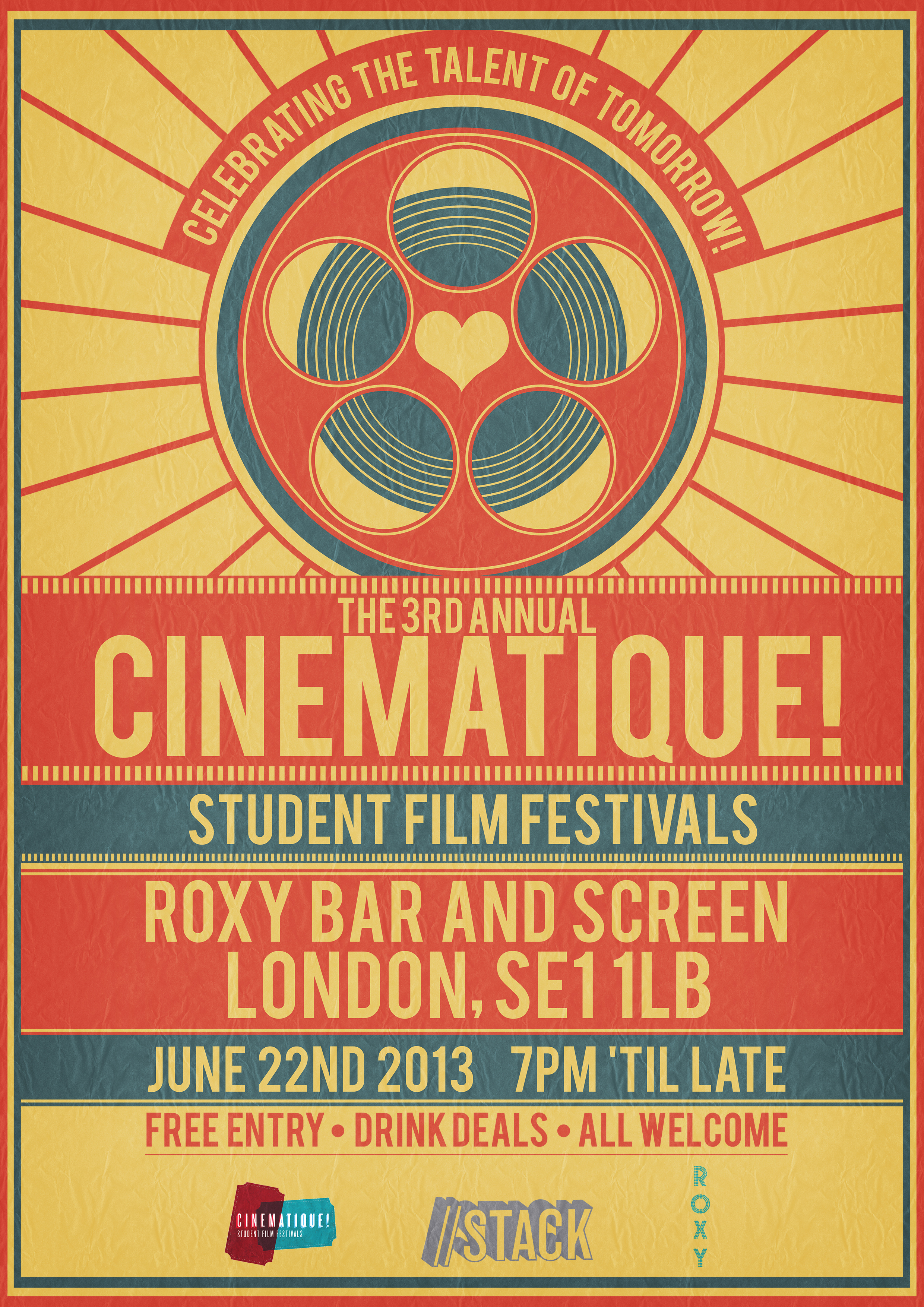 Cinematique! Film Festival Poster 2013 by RicGrayDesign on ...