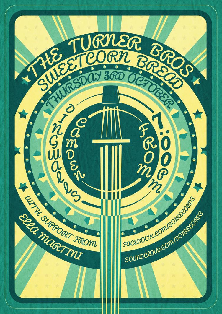 Dingwalls, Camden Gig Poster (Version 1) by RicGrayDesign