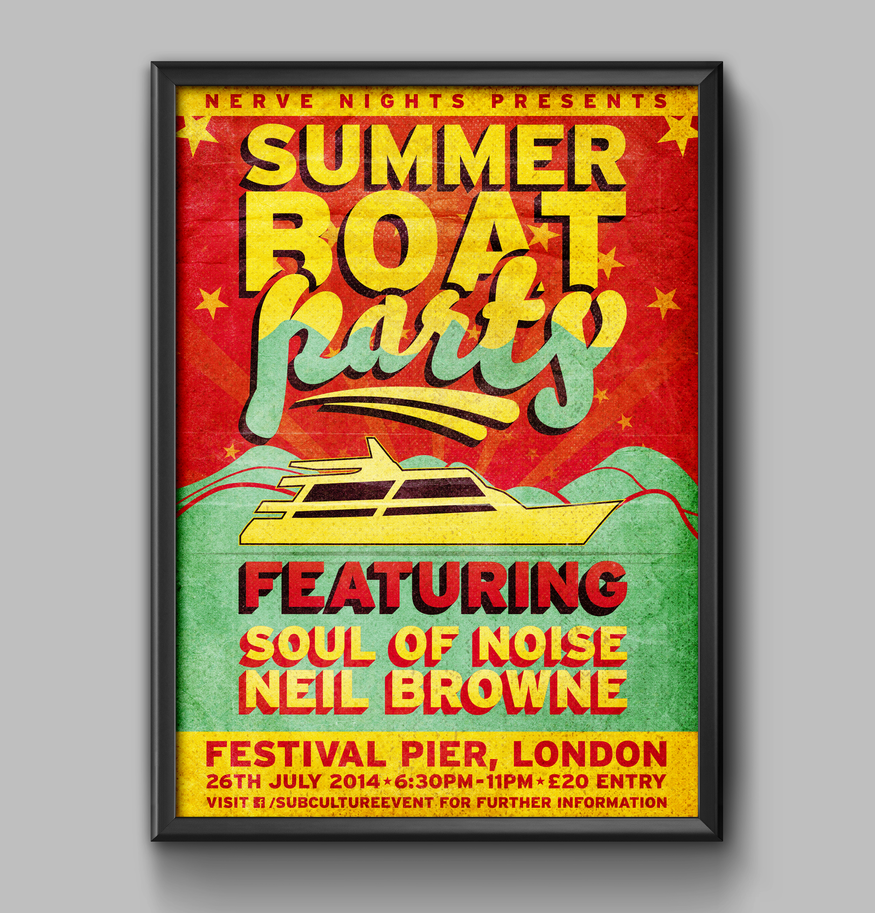 Summer Boat Party Poster by RicGrayDesign