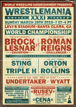 WWE Wrestlemania XXXI Poster (Vintage Style)