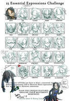 25 Expressions Doomy by Curly-Artist