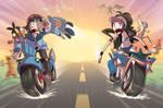 PKMN BATTLES ON MOTORCYCLES