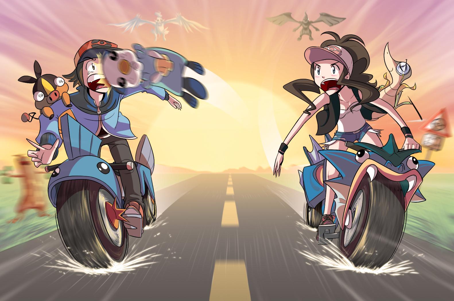PKMN BATTLES ON MOTORCYCLES by Sir-Doomy