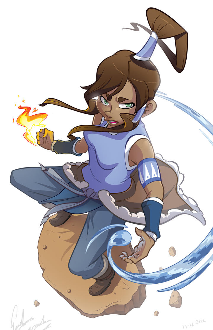 Korra In Action by Sir-Doomy
