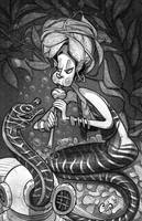 Eel Charmer by Curly-Artist