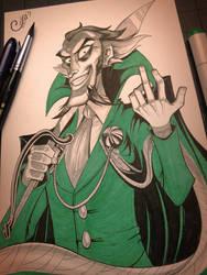 Ra's al Ghul - Inktober Day 13 by Curly-Artist