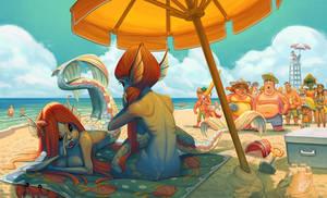 Mermaids At The Beach