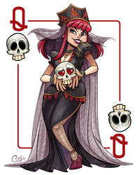 Queen Of Skulls [Commission] by Curly-Artist