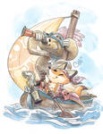 Pirate Fox And Sloth Are Friends