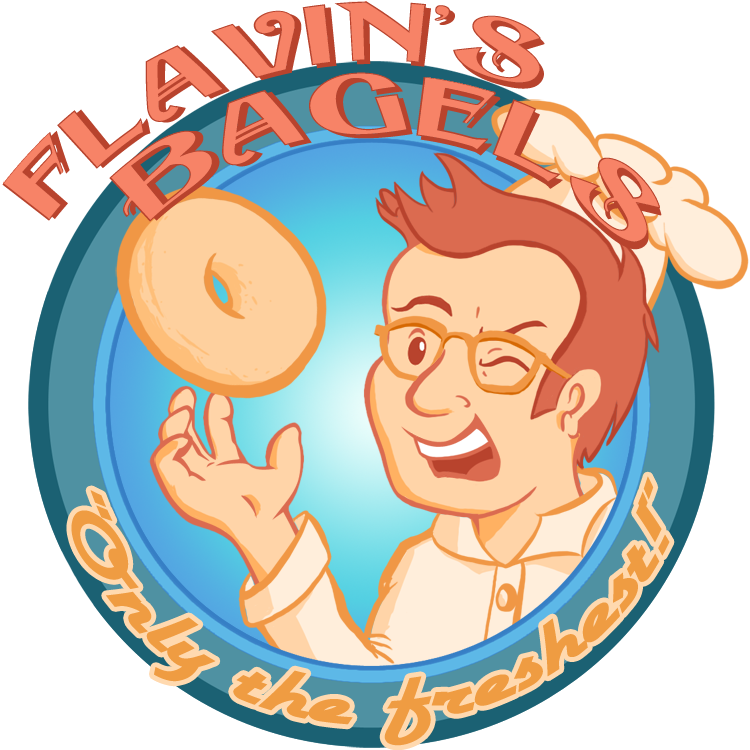 Bagel Logo by FlavinBagel