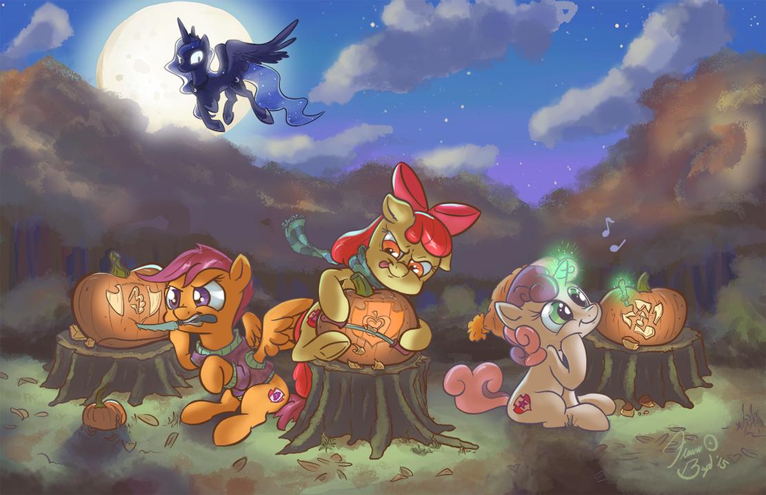 Pumpkin Mark Crusaders by FlavinBagel