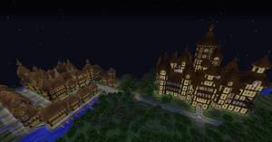 Night view in minecraft