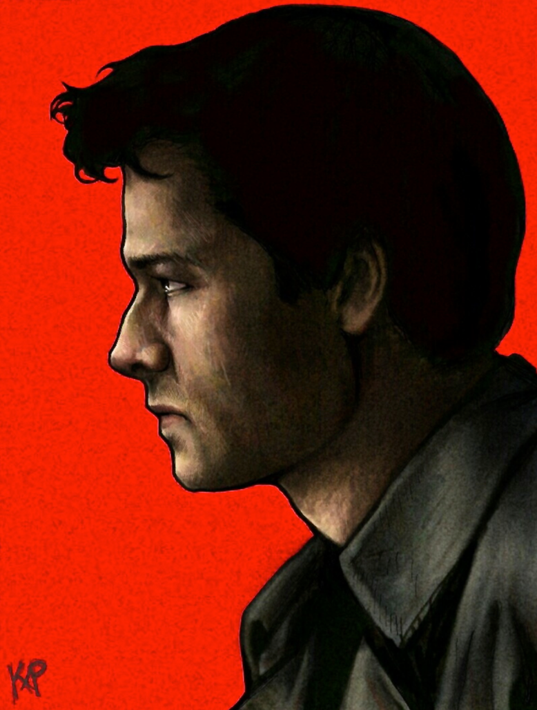 Misha Collins Side Portrait by pkmarie
