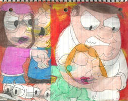 Family Guy Fight! by RozStaw57