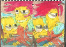 Sideshow Bob and Bart 4 by RozStaw57