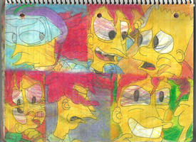 Sideshow Bob and Bart 6 by RozStaw57