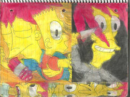 Sideshow Bob and Bart 8 by RozStaw57
