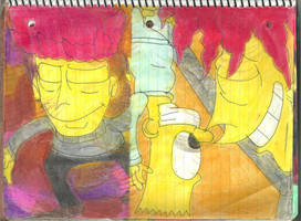 Sideshow Bob and Bart 9 by RozStaw57