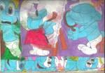 Sketch Pad Smurfs 2