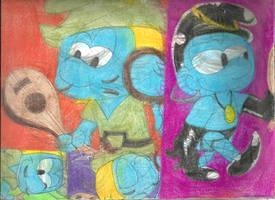 Sketch Pad Vanity Smurf 4 by RozStaw57