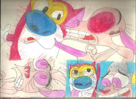 Sketch Pad Ren and Stimpy 1 by RozStaw57