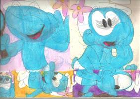 Sketch Pad Vanity Smurf 8 by RozStaw57