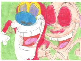 Happy Ren and Stimpy 1 by RozStaw57