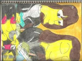 The Ramones Simpsonized by RozStaw57