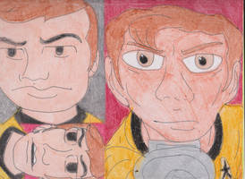 TOS and TAS Kirk by RozStaw57