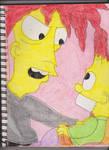 Bob Against Bart1 by RozStaw57