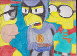 Burns and Smithers as Superheroes by RozStaw57