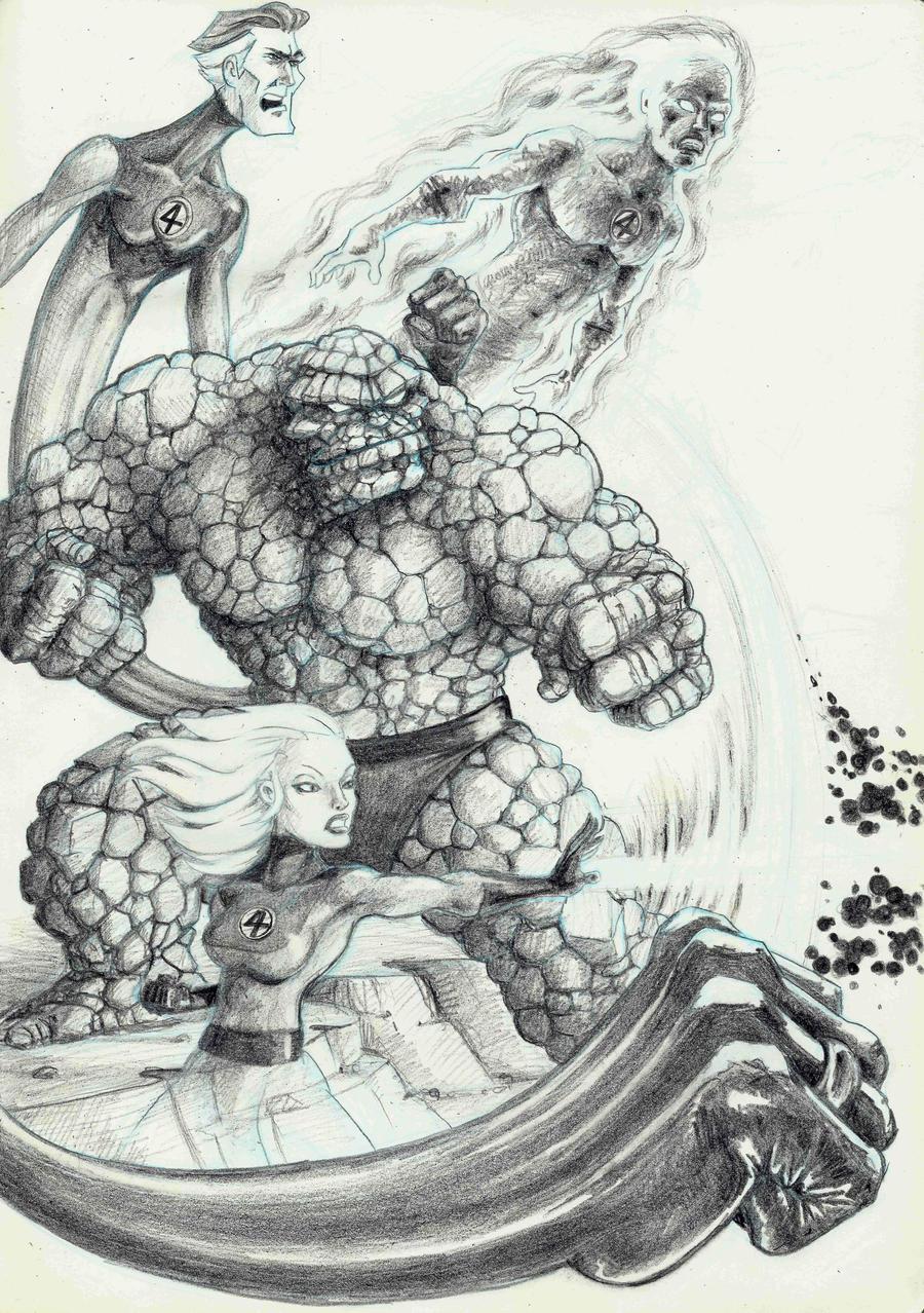 The Fantastic Four by DVLArt on DeviantArt