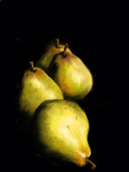 Two pair of pears by DVLArt