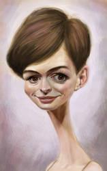 Anne H (2)Anne Hathaway caricature by DVLArt