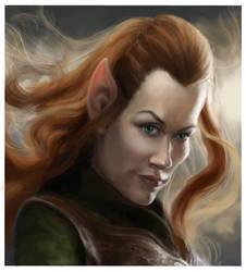 The Hobbit: Tauriel. by DVLArt