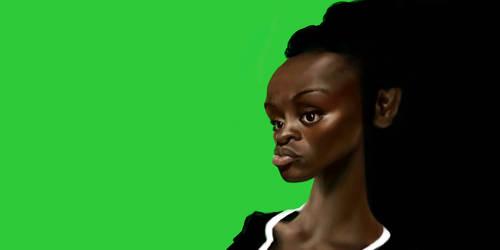 Caricature of Aissa Maiga by DVLArt