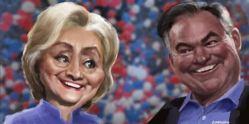 Clinton / Kaine 2016 by DVLArt