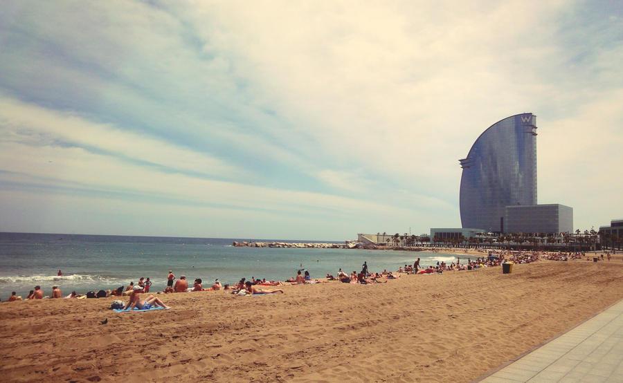 Barcelona Beach By CrazyMadness