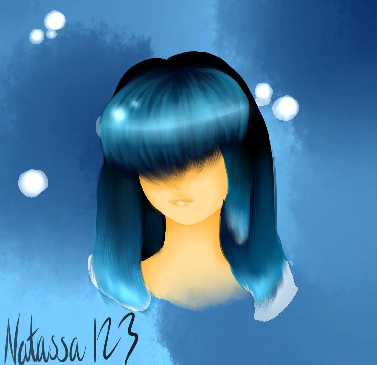 Blue-haired girl by Natassa123