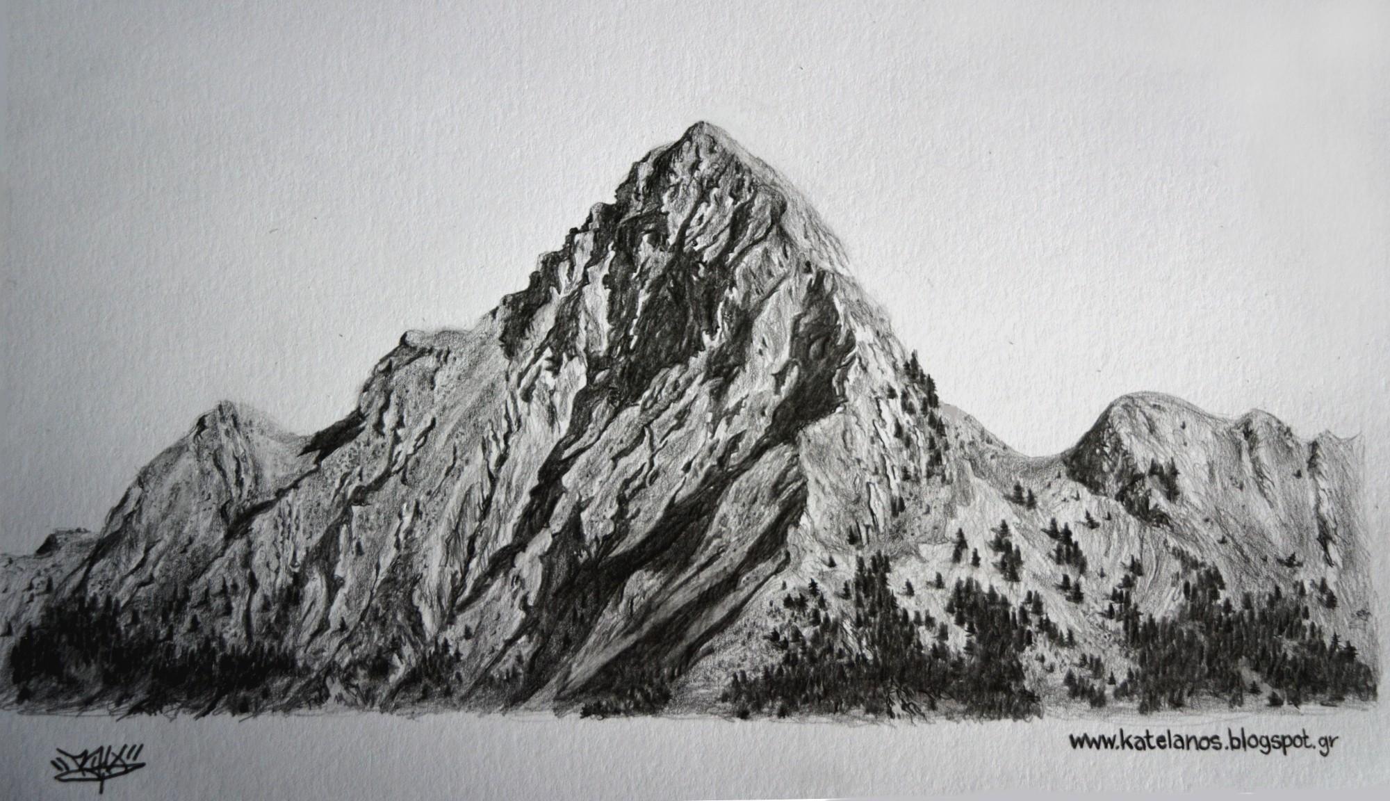 κούτουπας παναιτωλικό όρος κούτπας παναιτωλικού σκίτσο βουνό κουτουπας