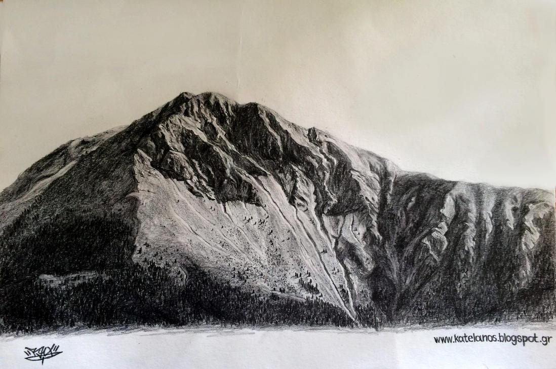 Kaliakouda mountain sketch by RawVerse
