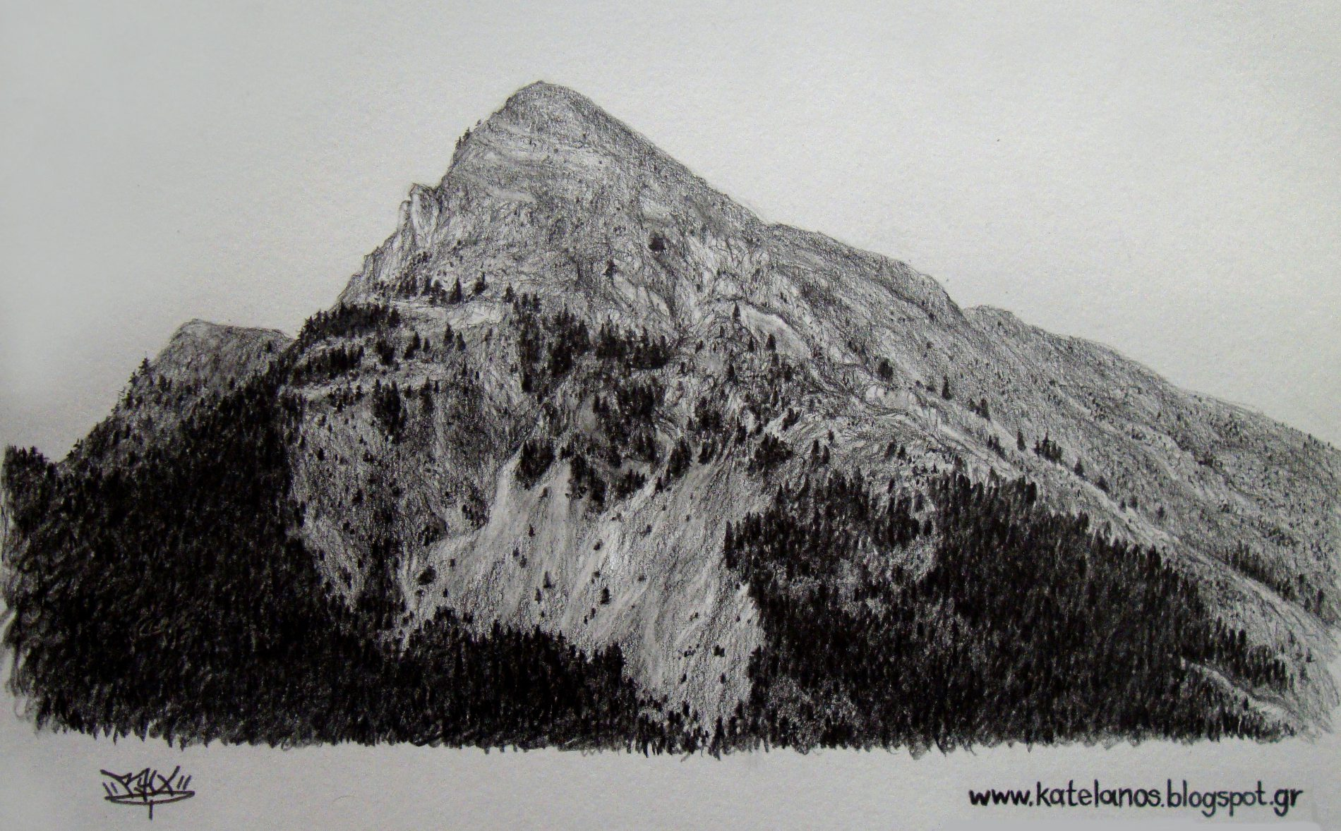αννινος βουνο σκιτσο παναιτωλικου ορους σκιτσα βουνων