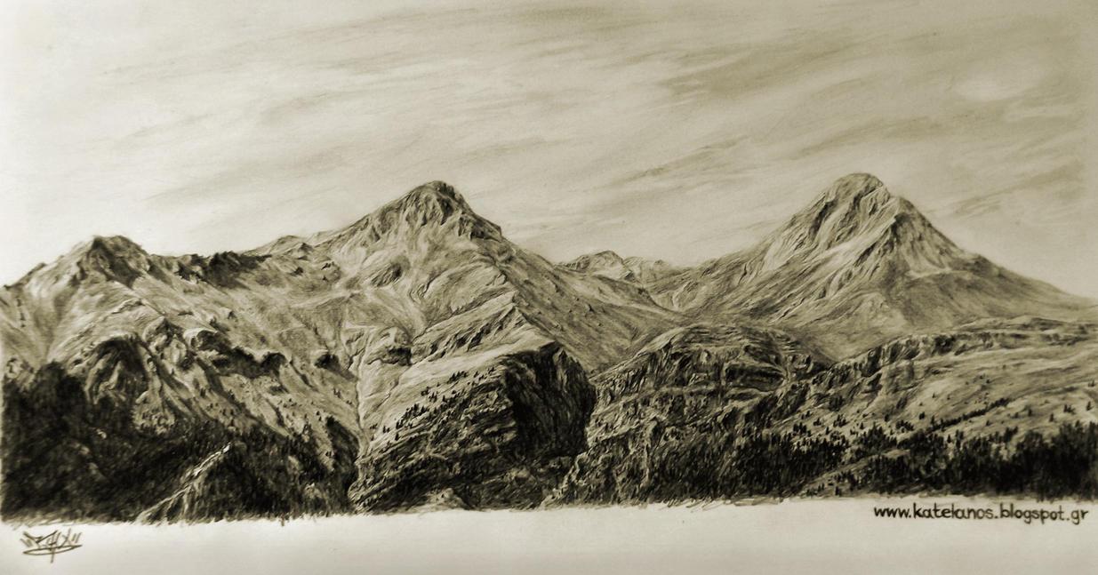 Erymanthos mountain sketch by RawVerse