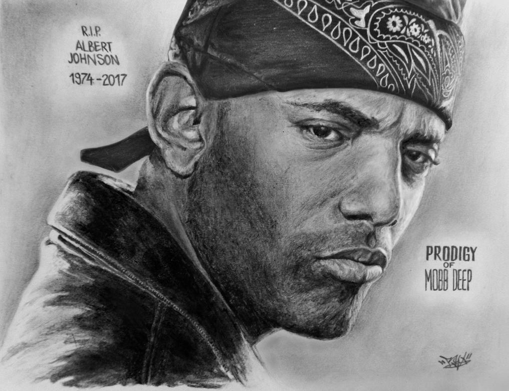 Prodigy of Mobb Deep sketch by RawVerse