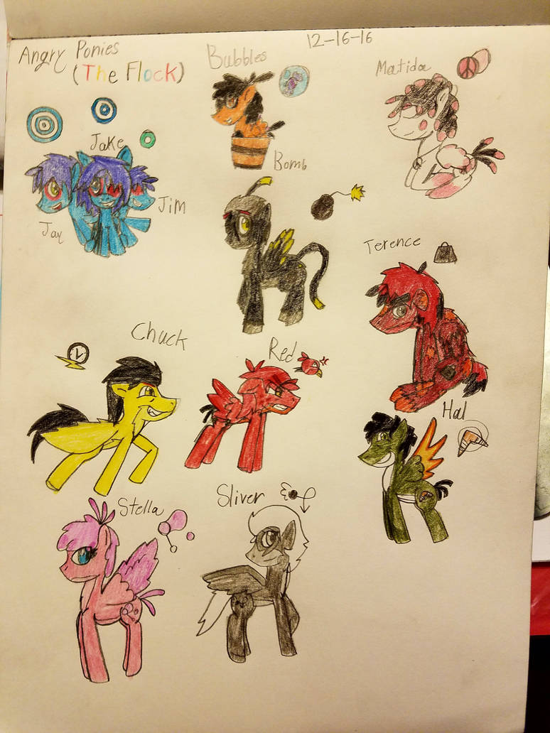 Angry Ponies The Flock by icefir on DeviantArt