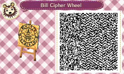 Bill Cipher Wheel pattern by NeonRedWings