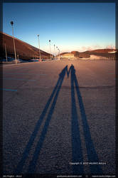 Two shadows in love by ValerioBulla